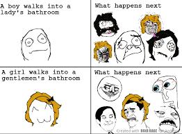 Ooh Face Meme - wrong bathroom meme by mr bigg memedroid