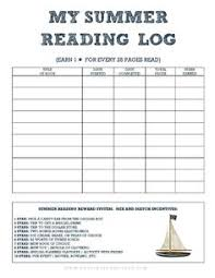 summer reading log reading logs logs and programming