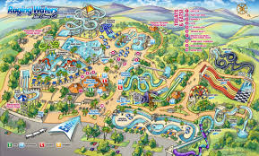 Chicago Attraction Map by Water Park Map Raging Waters Los Angeles