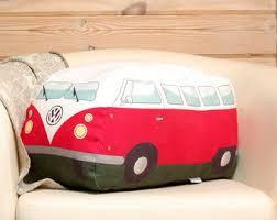 volkswagen van hippie vw bus pillow etsy