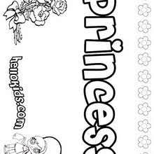 princess coloring pages free games for kids