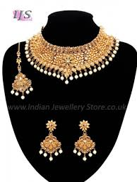 jewelry indian necklace images Regal flower pearl indian bridal jewellery indian jewellery uk usa jpg