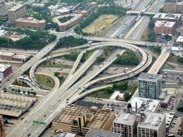 Chicago Area Traffic Map by Jane Byrne Interchange Wikipedia