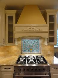 kitchen tile backsplash murals mike s peacock and pomegranate tree tile mural backsplash from