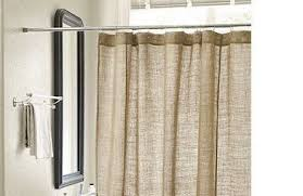 Burlap Shower Curtains Burlap Shower Curtain Handmade 72 Wide Custom Length