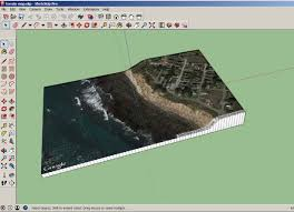Terrain Map Sketchup And 123d Make Architectural Terrain Model Youtube