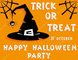 holiday background title happy halloween party trick or treat and