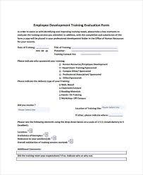 professional development evaluation form template 28 images