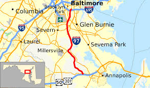 Map Of Baltimore Md Interstate 97 Wikipedia