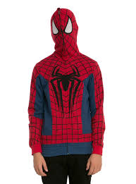spirit halloween spiderman marvel spider man costume full zip hoodie topic