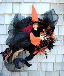 Witch Wreath Halloween Halloween Witch Wreaths Halloween Wikii