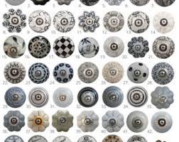 black ceramic cabinet knobs vintage style ceramic cupboard door knobs black white grey