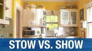 kitchen organization stow vs show youtube