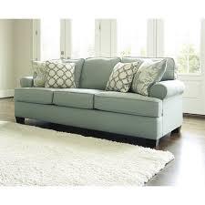 Loveseat Size Sleeper Sofa Ashley Daystar Fabric Queen Size Sleeper Sofa In Seafoam 2820039