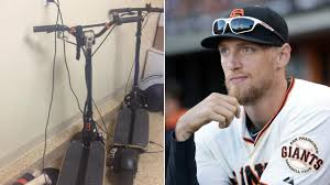 signed san francisco giants right fielder hunter pence u0027s scooter