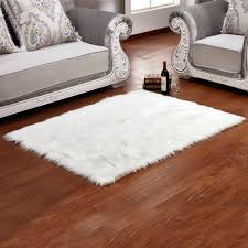 Fur Area Rug Faux Fur Area Rug Brown White Grey Residenciarusc