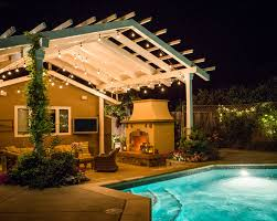 Backyard Patio Lights Hanging Outdoor Patio Lights How To Decorate Your Patio With