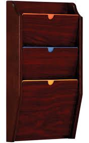 hipaa wall file holder 3 pocket wooden rack