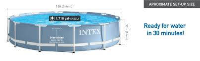 Backyard Pool Superstore Coupon by Amazon Com Intex 12ft X 30in Prism Frame Pool Set With Filter