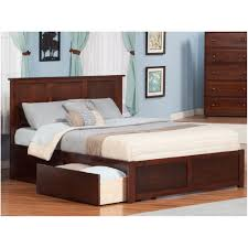 Bed With Storage In Headboard Bedroom Platform Storage Bed Frame Monterey Queen Wood Storage