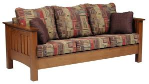 mission style leather sofa great mission leather sofa style furniture oak intended for sofas