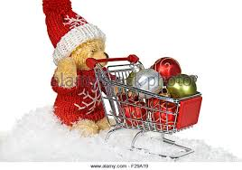 ornaments shopping cart stock photos
