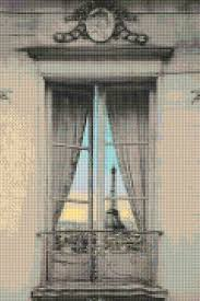 Eiffel Tower Window Curtains by Paris Eiffel Tower Reflection Cross Stitch Pattern Pdf Easy