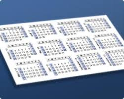 business card exle print a yearly calendar on a business card