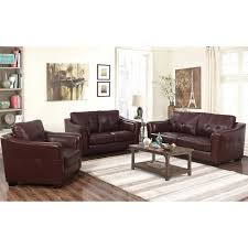 florentine 3 piece top grain leather living room set click to zoom