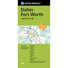 Map Dallas Folded Map Dallas Fort Worth Regional Map