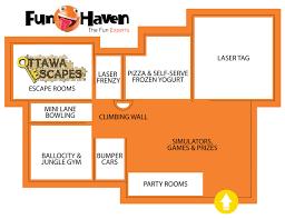 Home Decor Parties Canada Funhaven Floorplan Funhaven Attractions Funhaven Family Fun