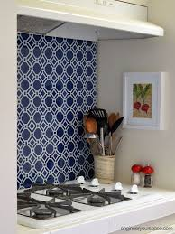temporary kitchen backsplash rental kitchen makeover from generic white to upgraded blue