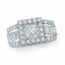 Princess Wedding Rings by 2 Ct T W Frame Princess Cut Diamond Engagement Ring In 14k White