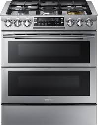Slide In Cooktop Samsung 5 8 Cu Ft Gas Flex Duo Self Cleaning Slide In Smart