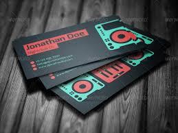 Business Card Template Jpg Flat Dj Business Card By Vinyljunkie Graphicriver