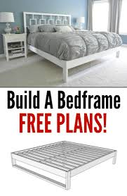 Build Your Own Bed Frame Plans Simple Bedframe Tutorial Bed Frames Learning And Free