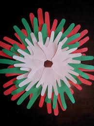 little townhome love handprint christmas wreath craft