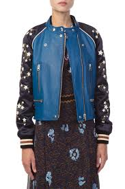 moto jacket adrianaonline com cityscape and stars embroidered leather moto