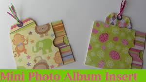 small scrapbook album envelope mini baby scrapbook album insert craft tutorial