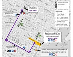map of nyc streets s march on nyc route and closures curbed ny