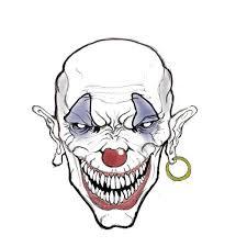 25 scary clown drawing ideas creepy