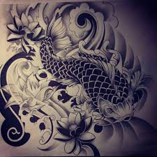 drawn koi traditional pencil and in color drawn koi traditional
