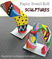 paper towel roll sculptures u2013 the pinterested parent