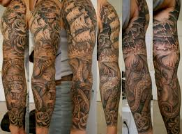 pirate sleeve tattoo designs 40 pirate tattoos on sleeve best