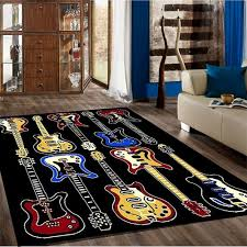 Guitar Area Rug Rugs Curtains Black Guitar Area Rug For Amazing
