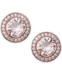 cubic zirconia stud earrings giani bernini pavé color cubic zirconia stud earrings in