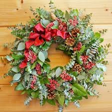 pine cone pepper berries wreath great for the season