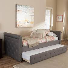 Tufted Daybed With Trundle Homesullivan Lincoln Park Oatmeal Trundle Day Bed 40e318b Abl3abd