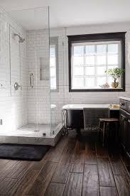 Grout Bathroom Floor Tile - wood tile floor white subway tile with dark grout black window