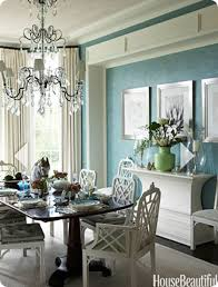 Blue And White Dining Room Table - Beachy dining room